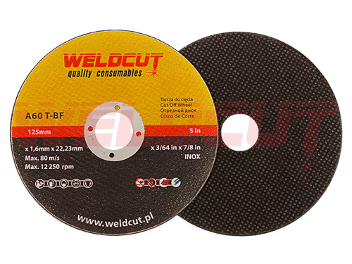 Cutting disc Weldcut Inox 125mm x 1.6mm
