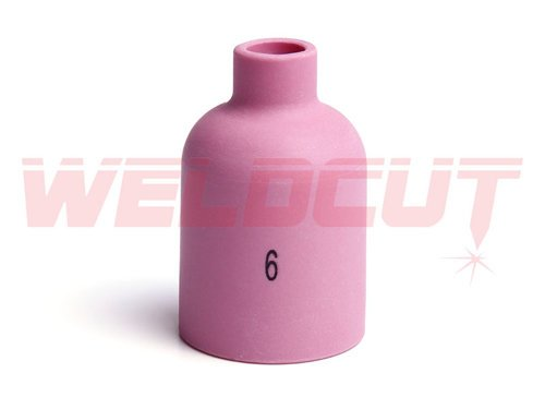 Lg. Alumina Gas Lens Nozzle #6 Ø9.5mm 57N75 / 701.1199